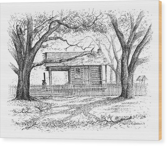 The Old Richardson Place Wood Print