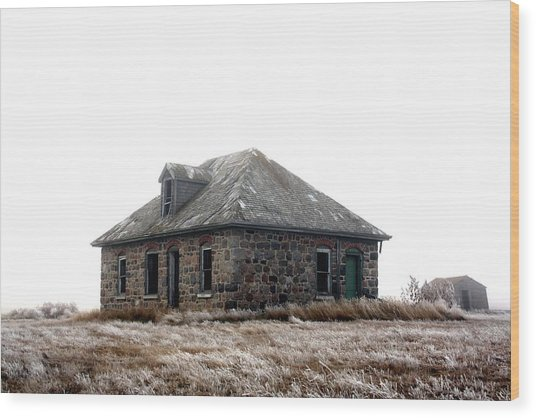 The Old Stone House Wood Print