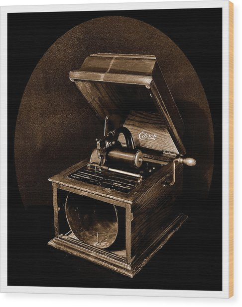 The Old Victrola Wood Print