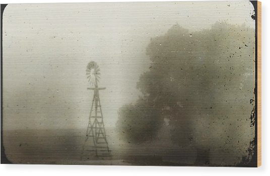 The Old Windmill Wood Print