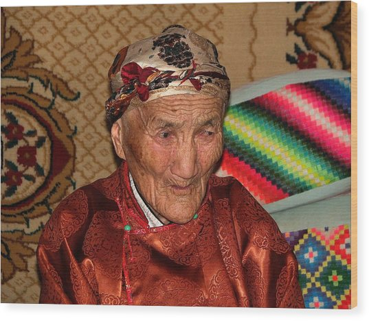 The Old Woman Of The Gobi Wood Print