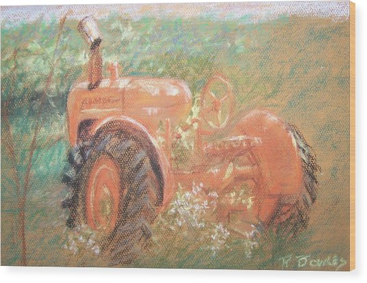 The Ol'e Allis Chalmers Wood Print by Ron Bowles