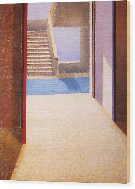 The Open Door Wood Print by Gloria Cigolini-DePietro