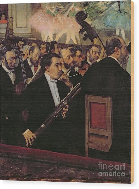 The Opera Orchestra Wood Print