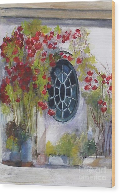 The Oval Window Wood Print