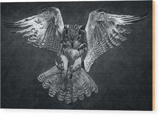 The Owl 2 Wood Print
