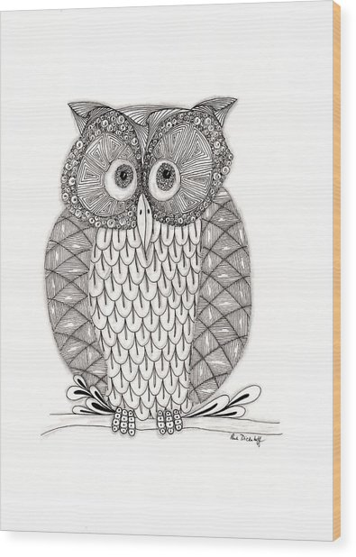The Owl's Who Wood Print