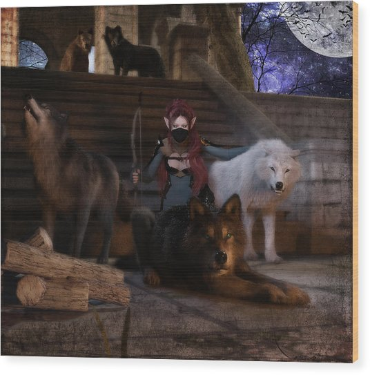 The Pack Wood Print