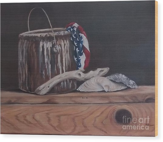 The Paint Can Wood Print