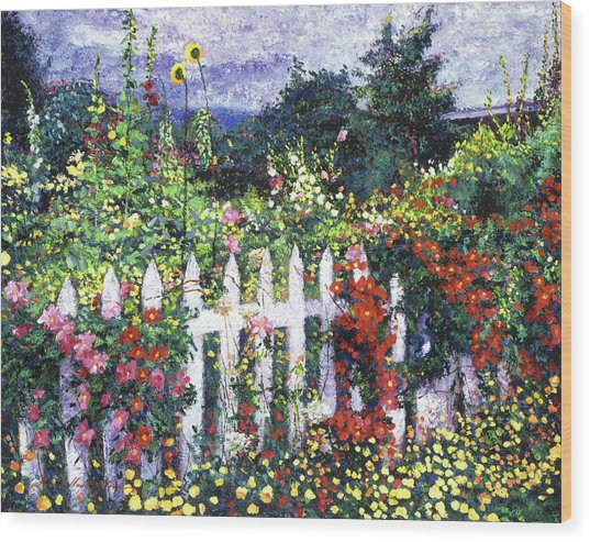 The Painter's Palette Garden Wood Print by David Lloyd Glover