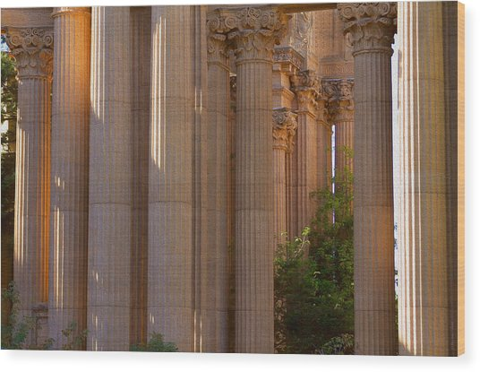 The Palace Columns Wood Print