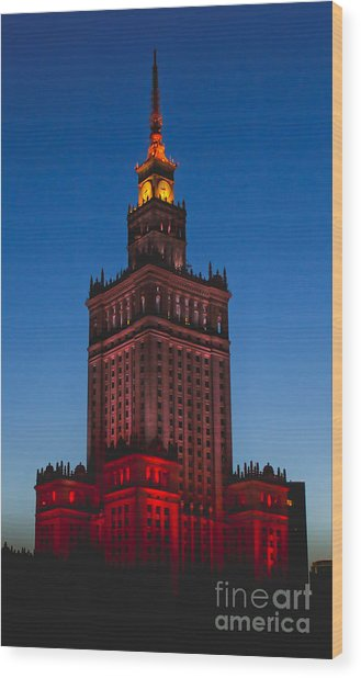 The Palace Of Culture And Science  Wood Print