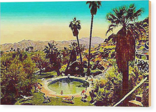 The Palm Springs Tennis Club Wood Print