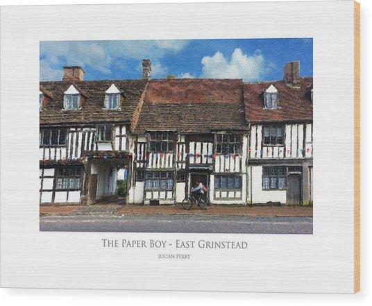 The Paper Boy - East Grinstead Wood Print