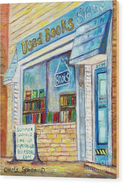 The Paperbacks Plus Book Store St Paul Minnesota Wood Print