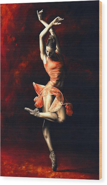 The Passion Of Dance Wood Print