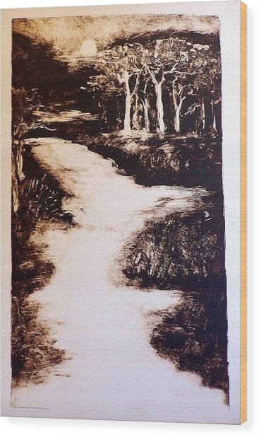 The Past Wood Print by Ilona Petzer