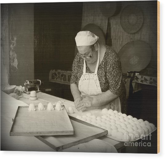 The Pastry Maker, Sardinia Wood Print