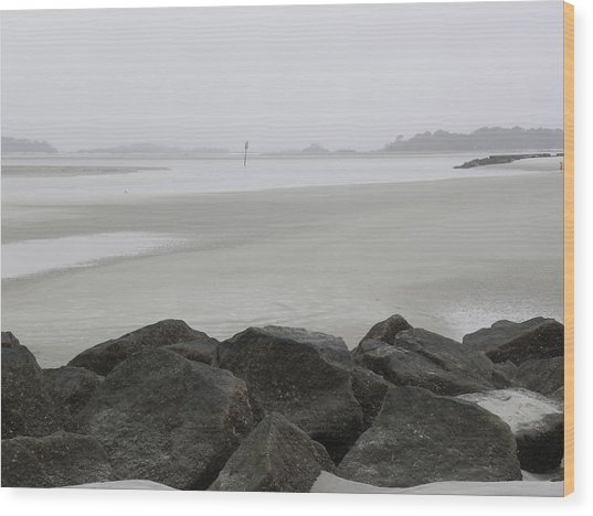 The Path Is Narrow Wood Print by Kim Zwick