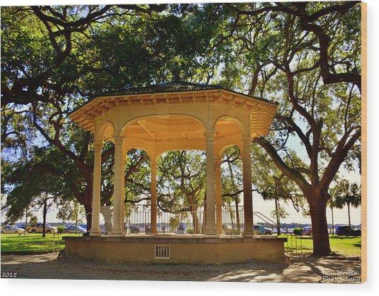 The Pavilion At Battery Park Charleston Sc  Wood Print