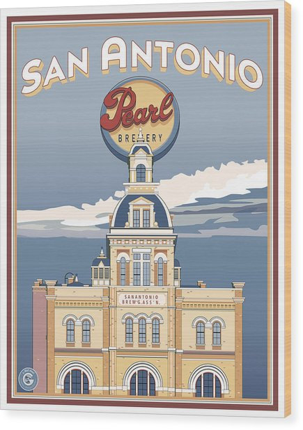 The Pearl Brewhouse Wood Print