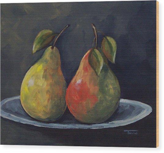 The Pears  Wood Print by Torrie Smiley