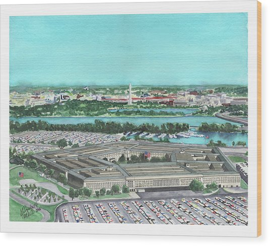The Pentagon Wood Print