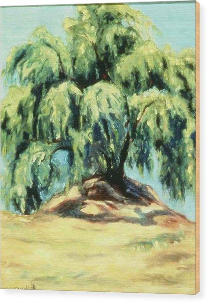 The Pepper Tree Wood Print by Helen O Hara