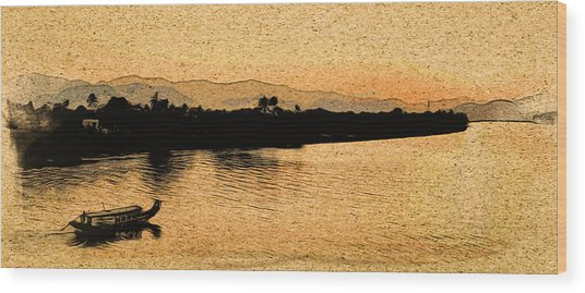 The Perfume River Wood Print