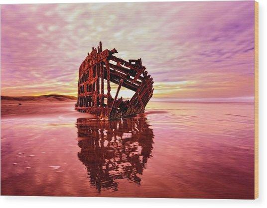 Peter Iredale Fantasy Wood Print