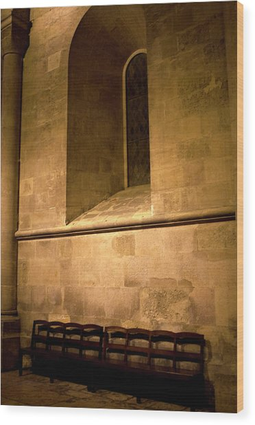 Wood Print featuring the photograph The Pew by Lorraine Devon Wilke