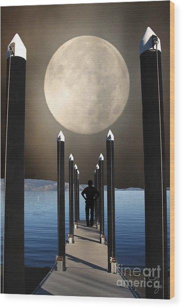 The Pier Wood Print by Lozja Mattas