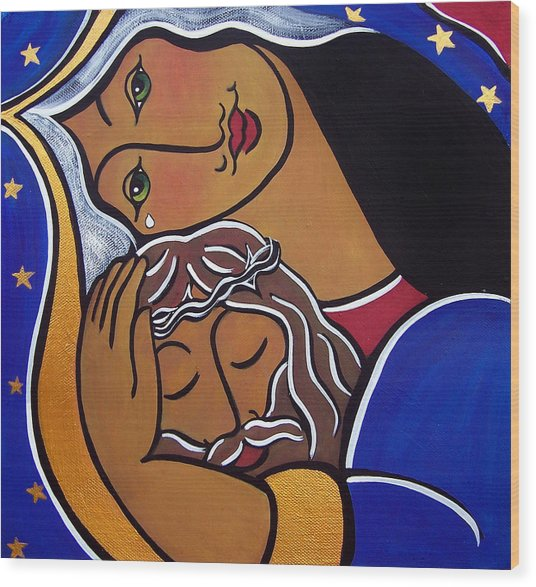 The Pieta Wood Print