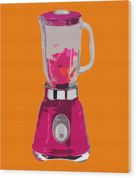The Pink Blender Wood Print by Peter Oconor