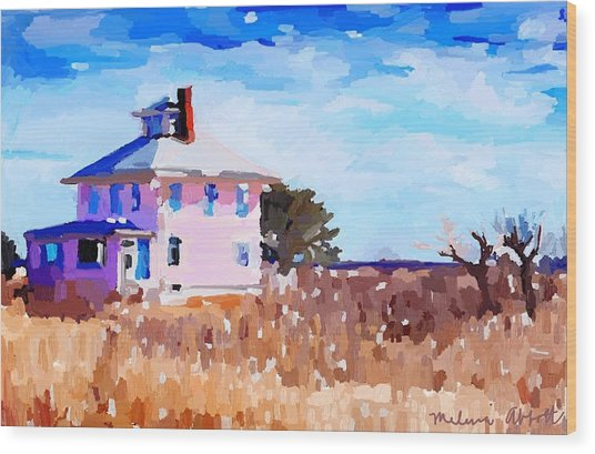 The Pink House, Newburyport, Ma. Wood Print