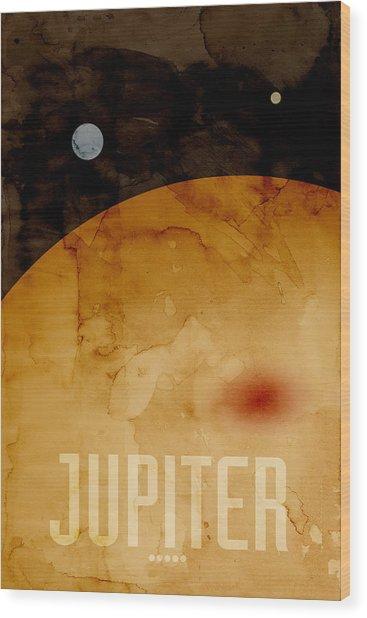 The Planet Jupiter Wood Print