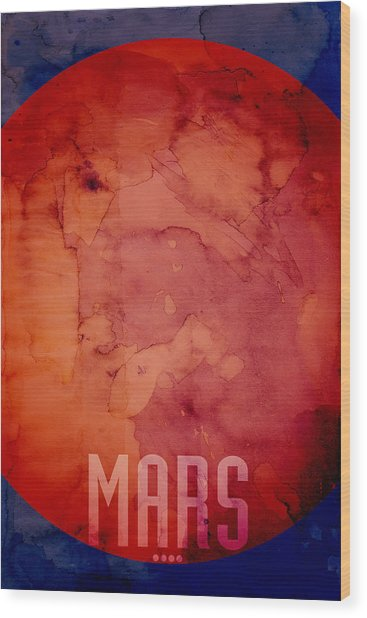 The Planet Mars Wood Print