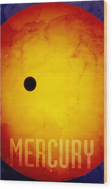 The Planet Mercury Wood Print
