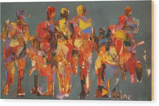 The Players Wood Print by Dan  Boylan