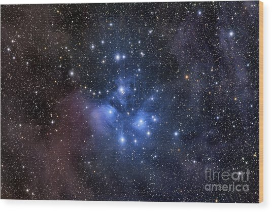 Wood Print featuring the photograph The Pleiades, Also Known As The Seven by Roth Ritter