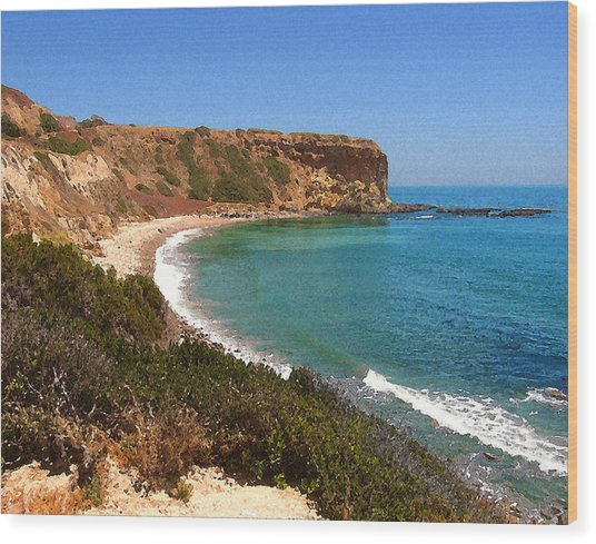 The Point At Abalone Cove Wood Print