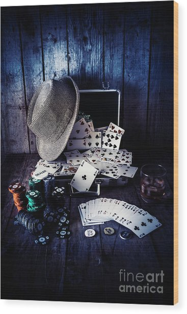 The Poker Ace Wood Print