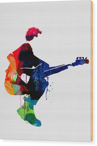 The Police Watercolor Wood Print