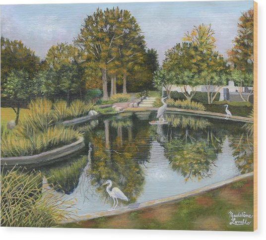 The Pond At Maple Grove Wood Print