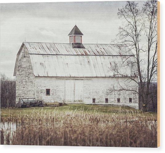 The Pond Barn - Rustic Barn Landscape Wood Print