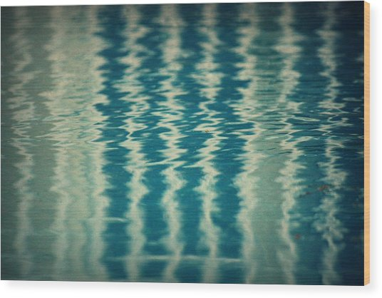 The Pool Party Wood Print