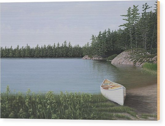 The Portage Wood Print