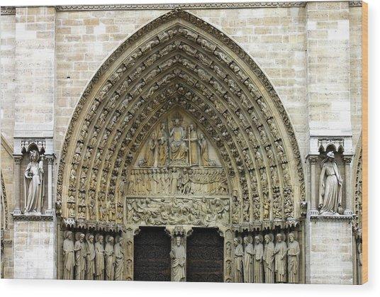 The Portal Of The Last Judgement Of Notre Dame De Paris Wood Print