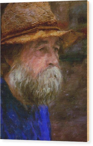 The Portrait Of A Man Wood Print
