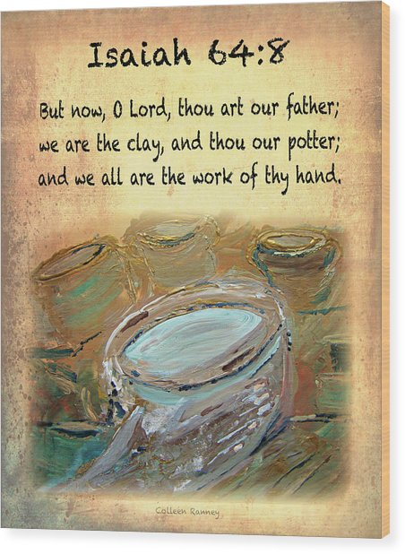 The Potter Bible Verses Wood Print